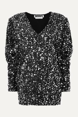 Rotate by Birger Christensen Masha Embellished Stretch-jersey Mini Dress - Black