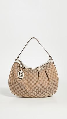 Shopbop Archive Gucci Sukey Medium Hobo Monogrammed Canvas Bag