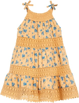 Peek Aren't You Curious Penelope Floral & Lace Tiered Dress