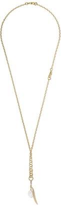 Annoushka 18kt yellow gold Mythology pearl olive seed necklace
