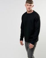 Bellfield Woven Wool Raglan Sweatshirt