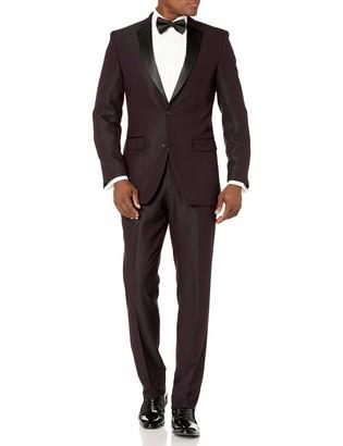 Perry Ellis Men's Slim Fit Stretch Wrinkle-Resistant Tuxedo