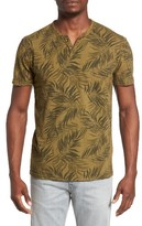 Lucky Brand Men's Palm Print Notch T-Shirt