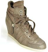 Ash Brooklyn - Stone High-Top Wedge Sneaker