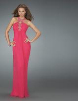 La Femme Long Halter Strap Prom Dress 14168