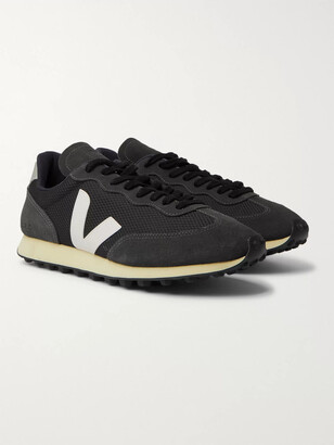 Veja Rio Branco Leather And Rubber-Trimmed Alveomesh And Suede Sneakers