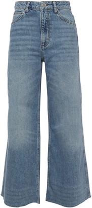 Sandro Maya Cropped High-rise Wide-leg Jeans