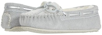 Minnetonka Kids Cassie (Toddler/Little Kid/Big Kid) (Ice Grey) Girl's Shoes