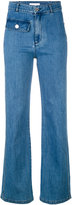 See by Chloe flared jeans - women - Cotton/Spandex/Elastane - 36