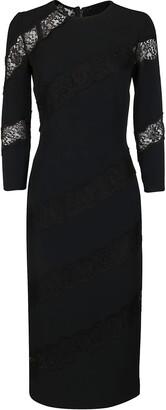 Dolce & Gabbana Lace Insert Midi Dress
