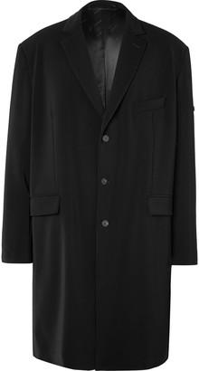 Balenciaga Oversized Logo-Appliqued Crepe Coat
