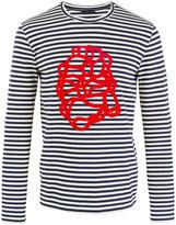 Etro printed Breton stripe sweatshirt