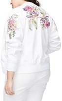 Rachel Roy Plus Size Women's Embroidered Bomber Jacket