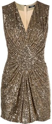 Balmain Sequinned Short Pleated Dress