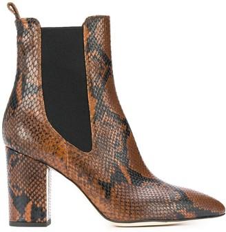 Paris Texas Snakeskin-Effect Ankle Boots