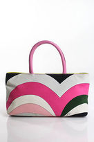 Emilio Pucci Multicolored Color Block Double Handle Satchel Handbag