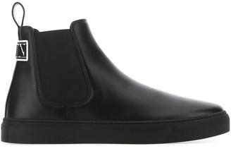 Valentino VLTN Logo Patch Ankle Boots