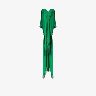 Oscar de la Renta Fringed Kaftan Gown
