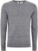 Topman Grey Black And White Twist Side Ribbed Jumper