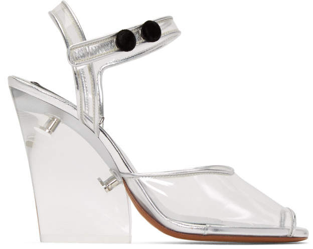 Marc Jacobs Transparent Clear Heel Sandals