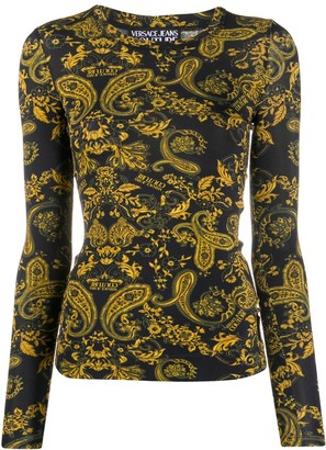 Versace Jeans Couture Paisley Loop-print fitted T-shirt