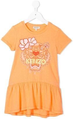 Kenzo Kids tiger print T-shirt dress