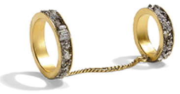 Lady Grey Channel Chain Ring