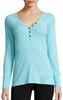 Betsey Johnson Ribbed Pajama Top