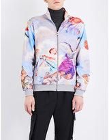 Moschino Cherub-print jersey zip-up track jacket