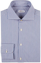 Kiton Men's Striped Cotton Dress Shirt