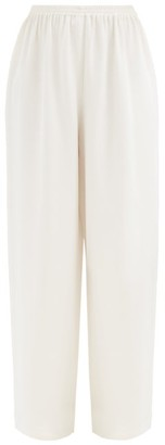 eskandar Wide-leg Silk-crepe De Chine Trousers - White