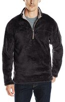 True Grit Men's Double Plush 1/4 Zip Pullover, Black