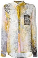 Diane von Furstenberg abstract print shirt