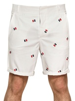Band Of Outsiders Cotton Embroidered Bermuda Shorts