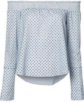 Derek Lam 10 Crosby dots print off-shoulders blouse - women - Cotton - 4