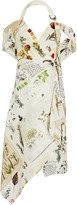 Monse Botanical Journal Silk-Linen Floral Dress