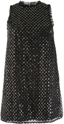 Aidan Mattox Sequin-Embellished Mini Dress