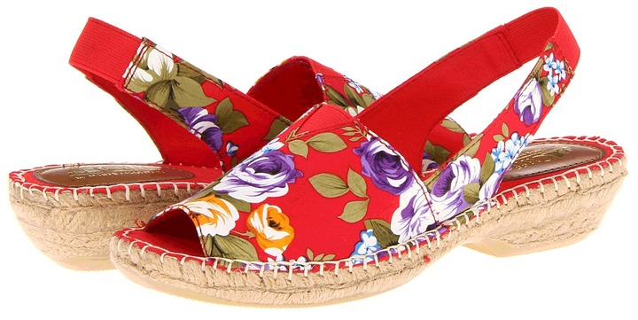 White Mountain Cliffs by Chyme (Red Floral) - Footwear