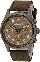 Wenger 0543.103 Men's Terragraph Grey Dial Gunmetal IP Grey Leather Strap Chronograph Watch