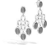 John Hardy Bamboo Chandelier Earring in Silver with Gemstone