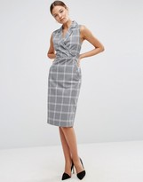 Asos Tux Dress in Grid Check