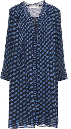Diane von Furstenberg Layla Printed Silk-georgette Mini Dress