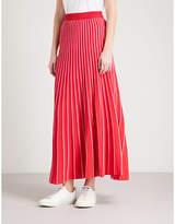 Sandro Striped knitted midi skirt