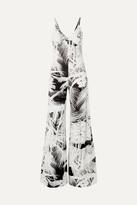 Norma Kamali - Printed Stretch-jersey Jumpsuit - Black