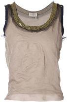 Lanvin tulle tank top - women - Cotton/Polyamide - L