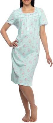 Jasmine Rose Printed Cotton Nightgown