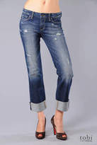 Paige Premium Denim Wilshire Boyfriend Straight Leg Jeans in Rebel