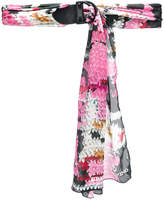 Ermanno Scervino colour-block wrap belt