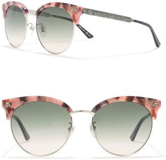 Gucci 56mm Cat Eye Metal Sunglasses