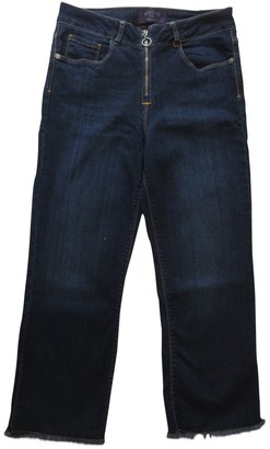 MANGO Blue Cotton - elasthane Jeans for Women